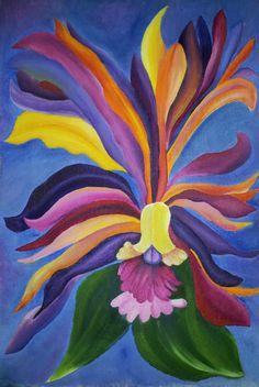Mythological Mountain Morning Glory   original by bellakoolla, $150.00