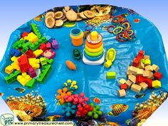 Pirates Themed Construction Multi-sensory Tuff Tray Ideas and Activities