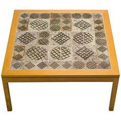 Ceramic Top Coffee Table by Erik Wørts and Tue Poulsen 1