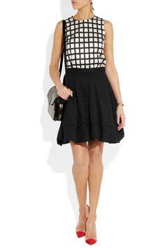 RED Valentino|Metallic-flecked tweed full skirt|NET-A-PORTER.COM