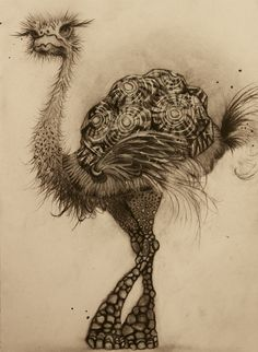 Creature Carbon on Paper by Sharlena Wood Fantasy Creatures, Mythical Creatures, Art Simple, Surreal Artwork, Art Projects For Adults, Ap Studio Art, Curious Creatures, Virtual Art, Whimsical Art