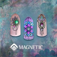 Gelpolish Designs by Trainer Markova Liubov #gelpolish #nailart #nails2inspire #nailsbymagntic #nailsoftheday #magneticnaildesign #nailtrends
