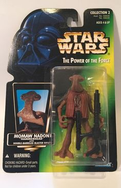 """Star Wars The Power of The Force Momaw Nadon """"Hammerhead"""" 1996 Collection 2 