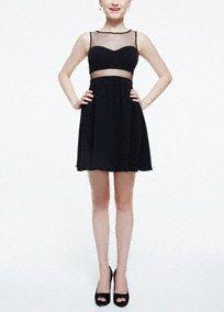 Sleeveless Illusion Neckline and Waist Drss, Style 201C43990 #davidsbridal #homecoming2014 #bestdressedindb #homecomingdress