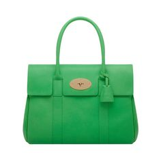 Bayswater in Queen Green Soft Grain | Women's Bags | Mulberry