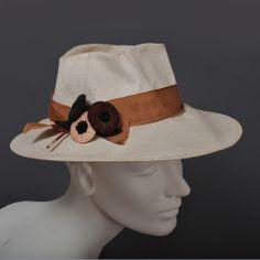 4a8e3d91c39 Chic 1920s - 30s Panama Fedora Hat w   Trim - B. Altman Fedora Hat