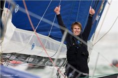 François Gabart after winning the Vendée Globe in record time, and becoming the youngest skipper in history to sail around the world single-handed.