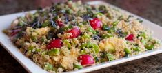 a gorgeous summery quinoa salad packed with protein vegan and gluten free. As healthy as it is delicious! Side Recipes, Vegan Recipes, Fun Recipes, Healthy Salads, Healthy Eating, Healthy Food, Vegan Food, Healthy Life, Salads