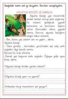 Turkish Lessons, Learn Turkish, Turkish Language, Reading Passages, Foreign Languages, Worksheets, Preschool, Drama, This Or That Questions