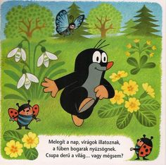 The Mole amongst the Spring Flowers The Mole, Cartoon Toys, Animal Magic, Preschool Education, Pink Balloons, Children's Picture Books, Spring Flowers, Small Tattoos, Pretty In Pink