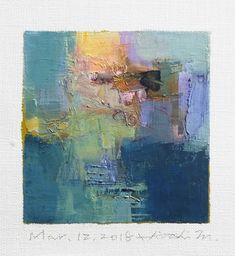 "Mar. 12, 2018 9 cm x 9 cm (app. 4"" x 4"") oil on canvas © 2018 Hiroshi Matsumoto www.hiroshimatsumoto.com"