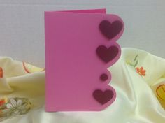 Hearts Valentines Day Card , FREE Confetti , Pink , wife , girlfriend , friend , spouse , love , blank by patchandpeanut on Etsy