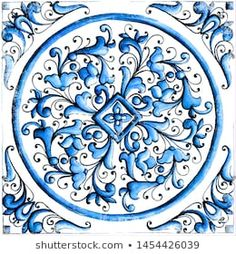 Find maiolica stock images in HD and millions of other royalty-free stock photos, illustrations and vectors in the Shutterstock collection. Classic House Exterior, Pattern And Decoration, Mexican Designs, Easy Paintings, Islamic Art, Royalty Free Images, Zentangle, Shabby, Illustrations