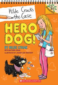 Ten-year-old crime reporter Hilde Lysiak is starring in her very own Scholastic Branches early chapter book series -- Hero Dog! (Hilde Cracks the Case Fire Kids, Dog Books, Mystery Books, Mystery Series, Chapter Books, Writing A Book, Book Series, Book Format, Free Books