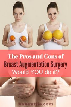 Breast Augmentation Surgery is becoming increasingly popular - if you are thinking about having a boob job you really need to look carefully at the pros and cons of breast augmentation surgery as well as the recovery time after your surgery. Weight Loss Images, Fit Women Bodies, Tummy Tucks, Wrinkle Remover, Bigger Breast, Pregnancy Tips, Plastic Surgery, Health And Wellness, Boobs