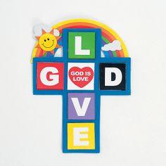 God Is Love Cross Magnet Craft Kit - OrientalTrading.com