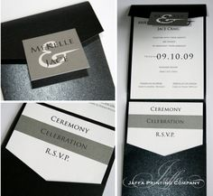 wedding colors for modern bride pocket invitations | Wedding Invitation Blog: Pocket Invitations