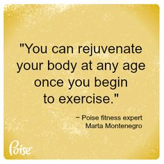 What works best to maintain your body? The age old advice: Eat right and exercise. Our Poise experts share tips for getting and staying fit well into your later years. http://poise.com/... #fitness #nutrition
