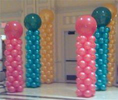 Simple Balloon Columns can create a fun entrance into the main dance area.