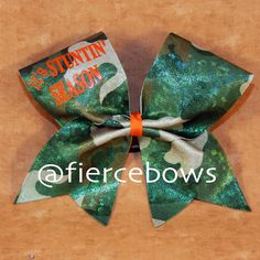 It's Stuntin Season Cheer Bow by MyFierceBows on Etsy Cheerleading Bows, Cheer Stunts, Cute Cheer Bows, Camo Bows, College Cheer, Cheer Quotes, Cheer Hair, Ribbon Crafts, Girls Bows