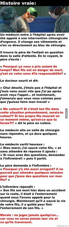 Un médecin entre à l'hôpital après avoir été appelé à une intervention chirurgicale d'urgence...