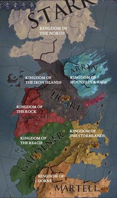 """Martin's """"A Song of Ice and Fire"""" novels, his Westeros-based short stories, """"Game of Thrones"""" and. Game Of Thrones Map, Game Of Thrones Artwork, Game Of Thrones Houses, Cersei Lannister, Balerion The Black Dread, Crusader Kings 2, Game Of Theones, Game Of Thrones Illustrations, Rpg Map"""