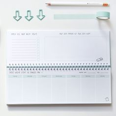 Wochenplaner ohne festgeschriebenes Datum in schön