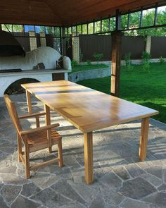 Обеденный стол из массива бука. Дачная мебель. Производство мебели под заказ. Отправка в любую точку. Лофт, индастриал, прованс, рустик. Wooden barn table. Loft, industrial, rustic, provance.