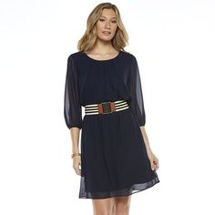AB Studio Solid Chiffon Dress - Women's