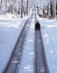 Just south of the Michigan border in Indiana - Toboggan Run at Pokagon State Park