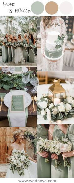Top 12 Wedding Color Combinations Ideas for 2020 Mist green wedding color ideas Diy Wedding Decorations, Wedding Centerpieces, Wedding Bouquets, Wedding Cakes, Table Decorations, Best Wedding Colors, Winter Wedding Colors, March Wedding Colors, Wedding Ceremony Ideas