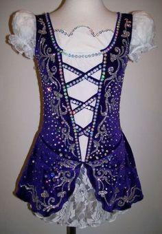 Traditional Figure Skating Dress/Irish Dance/Baton Twirling Costume Made to Fit | eBay
