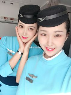 Airline Cabin Crew, Airline Uniforms, Military Women, Xiamen, Commercial Aircraft, Asia Girl, Flight Attendant, Asian Woman, Captain Hat