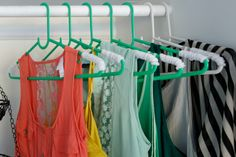 Wrap pipe cleaners around plastic hangers to reduce silk shirt slippage: Closet Hacks!  http://blog.diynetwork.com/maderemade/2014/05/07/spring-cleaning-fever-diy-customized-closets/?soc=pinterest