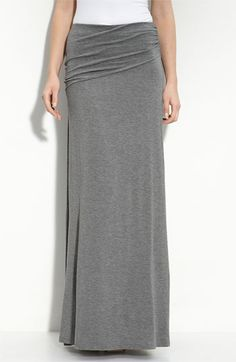 Bobeau Asymmetric Knit Maxi Skirt available at #Nordstrom