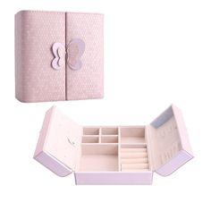 New 2016 Graceful Elegant Style Bowknot PU Leather Storage Jewelry Case Box Organizer 3 Colors