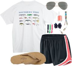 southern tide, nikes, rainbows and raybans. Lazy Day Outfits, Preppy Outfits, Preppy Style, Summer Outfits, Cute Outfits, My Style, College Outfits, Summer Clothes, Preppy Southern