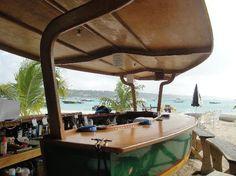 Ship shaped Elvis' Beach Bar in Anguilla.