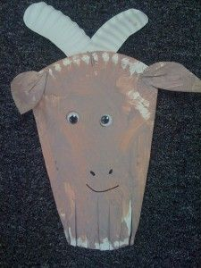 Paper plate goats-could be a good craft to go with reading The Three Billy Goats Gruff