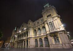 Old Port building at night, Barcelona Old Port, Notre Dame, Barcelona, Louvre, Lights, Architecture, Building, Travel, Art