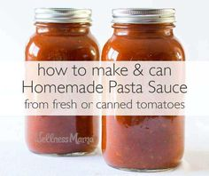 Canning Marinara Sauce, Fresh Tomato Marinara Sauce, Pasta Sauce With Fresh Tomatoes, Homemade Spaghetti Sauce, Tomato Sauce Recipe, Homemade Tomato Sauce, Homemade Marinara, Homemade Pasta, Pasta Sauce Canning Recipe