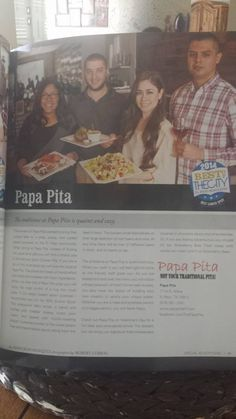 https://www.facebook.com/ThePapaPita  Featured in the February Issue of The El Paso Magazine