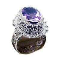 Amethyst 925 Sterling Silver Ring charming Purple supply AU KMOQ