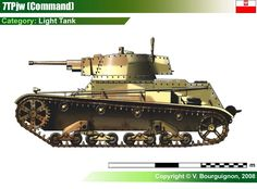 Light Tank 7TP jw (Transmission Tank) Poland Ww2, Armoured Personnel Carrier, War Thunder, Tank Destroyer, Tank Design, Ww2 Tanks, Military Equipment, Armored Vehicles, World War Two