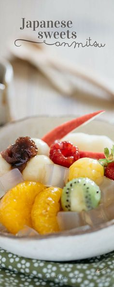 Anmitsu is traditional Japanese cold sweets that Japanese people love and enjoy