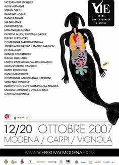 Poster VIE Scena Contemporanea Festival 2007