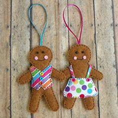 Image result for felt gingerbread man sequins