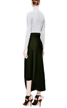 J.W. ANDERSON   Draped Rib-Knit Maxi Skirt