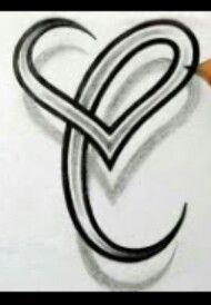 "Behind the ear letter ""C"" Celtic tattoo idea"