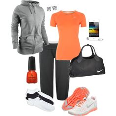 Orange NIKE!, created by ksue92 on Polyvore